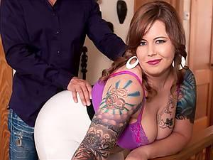 BBW Punk porn with curvy woman Vanya Vixen with big natural boobs