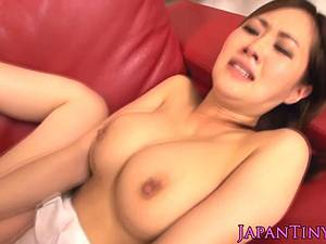 Asian with great boobs fucked in a leotard