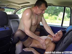 Czech whore fucked in the car