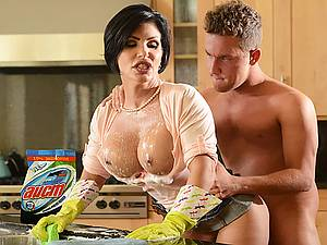 Impudent boy fucks his mature busty stepmother Shay Fox and cums in her